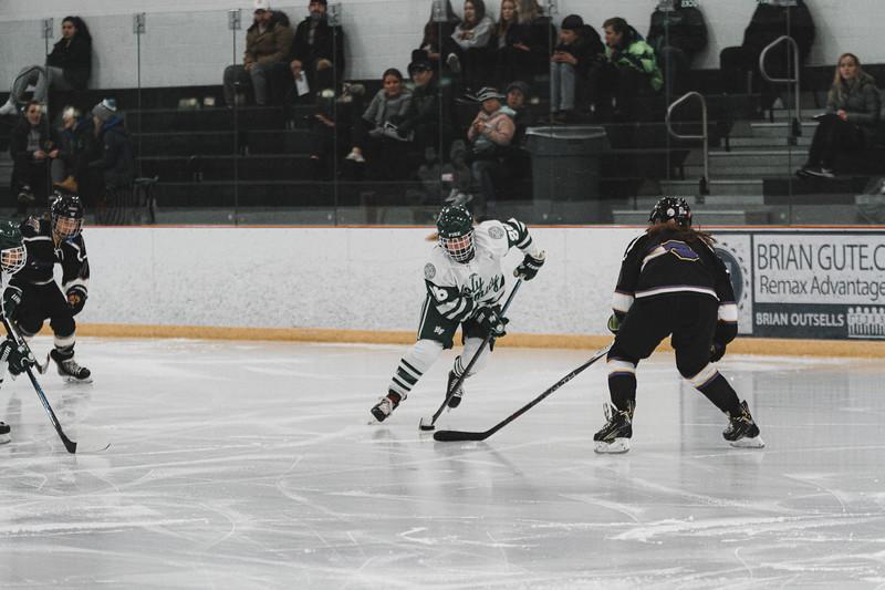 Holy Family Varsity Girls Hockey vs. Waconia, 1/9/20: Kayla Woytcke '22 (28)