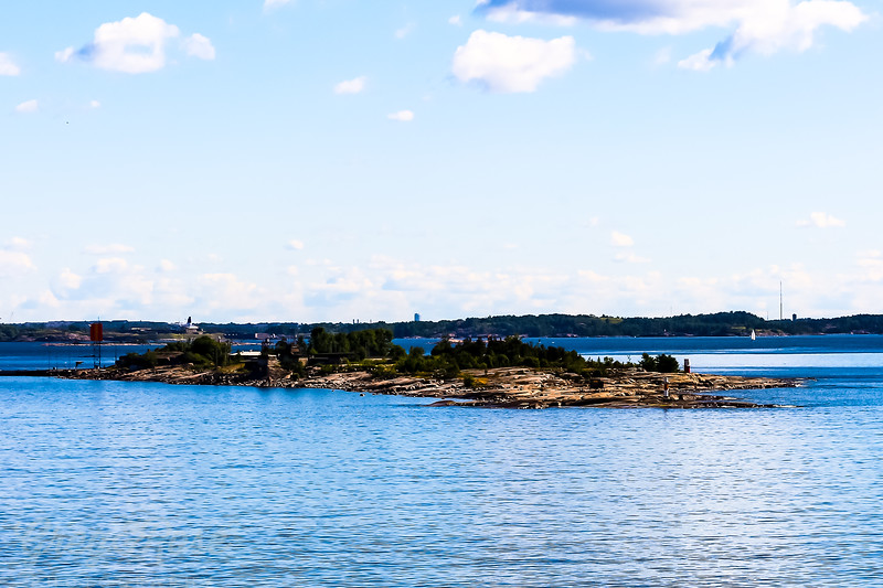 Island in The Gulf of Finland leading to Helsinki