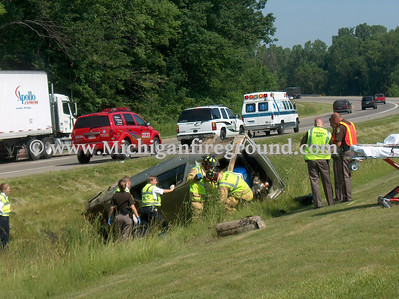6/14/07 - Delhi Twp rollover crash, Northbound US-127 @ Holt Rest Area