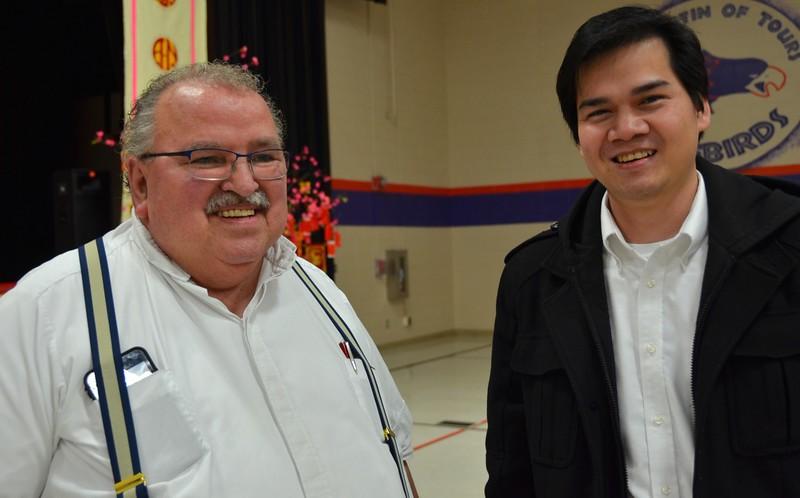 Fr. Yvon with SCJ candidate Liem Nguyen