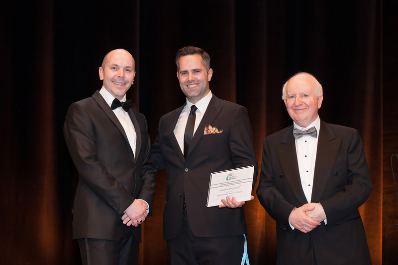 IAPCO Innovation Award presented to Andrew Dergousoffn, Director of Virtual Conferences at International Conference Services Ltd
