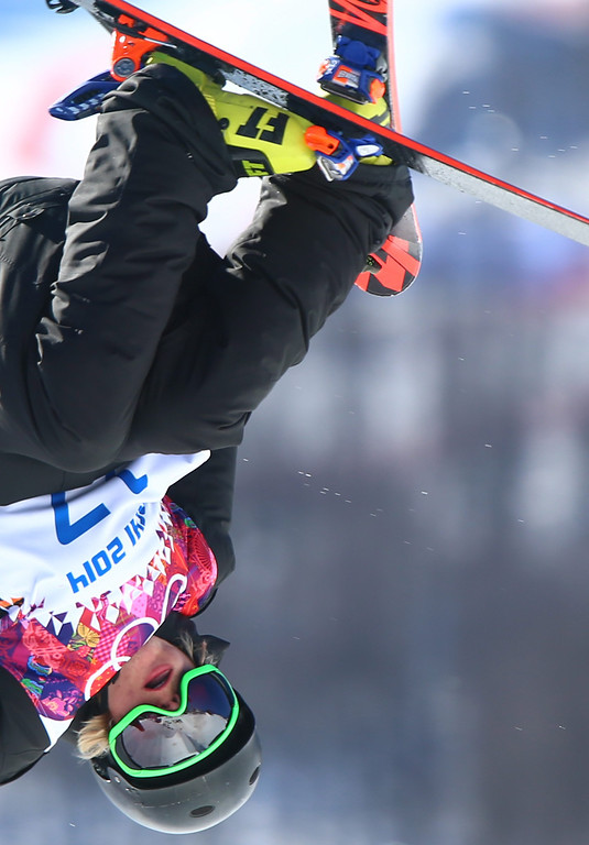 . Antti Ollila of Finland in action during the Men\'s Freestyle Skiing Slopestyle qualification in the Rosa Khutor Extreme Park at the Sochi 2014 Olympic Games, Krasnaya Polyana, Russia, 13 February 2014.  EPA/JENS BUETTNER