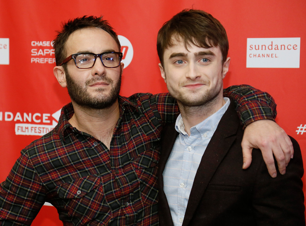 ". Director John Krokidas, left, and actor Daniel Radcliffe pose at the premiere of ""Kill Your Darlings\"" during the 2013 Sundance Film Festival on Friday, Jan. 18, 2013 in Park City, Utah. (Photo by Danny Moloshok/Invision/AP)"
