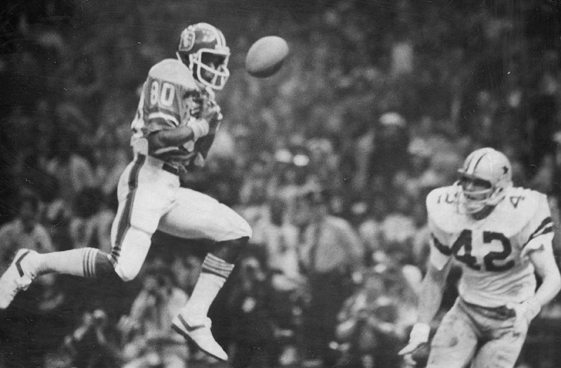. The Cowboys defensive team dominated most of Super Bowl XII, forcing 8 turnovers and allowing only 8 pass completions by the Broncos for just 61 yards. Two of those interceptions led to 10 first-quarter points. Denver lost 27-10.    Football - Denver Broncos - Super Bowl  Credit: Denver Post