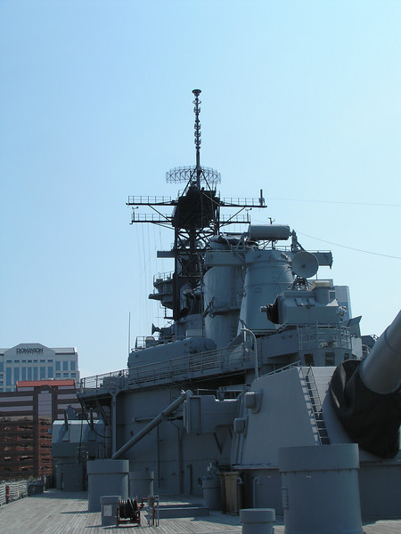 Mast of Battleship Wisconsin