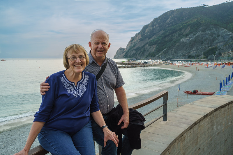Enjoying the beach and the atmosphere in Monterosso al Mare