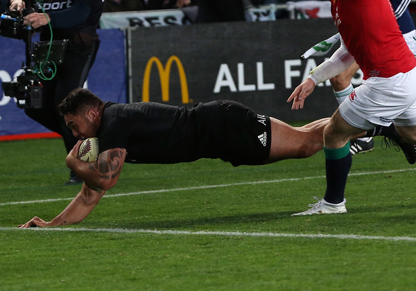 Codie Taylor  during game 7 of the British and Irish Lions 2017 Tour of New Zealand, the first Test match between  The All Blacks and British and Irish Lions, Eden Park, Auckland, Saturday 24th June 2017 (Photo by Kevin Booth Steve Haag Sports)  Images for social media must have consent from Steve Haag