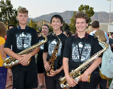 LCHS Band Performs Preview of Field Show