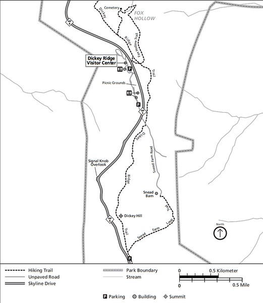 Shenandoah National Park (Trails - Dickey Ridge Area)