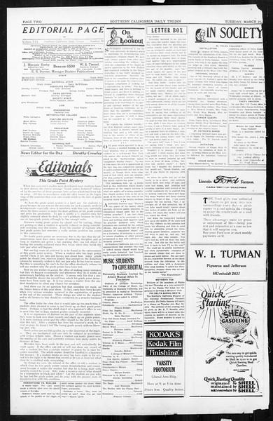 Daily Trojan, Vol. 16, No. 74, March 24, 1925