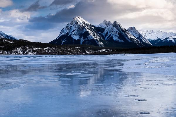 Winter at Abrahams Lake