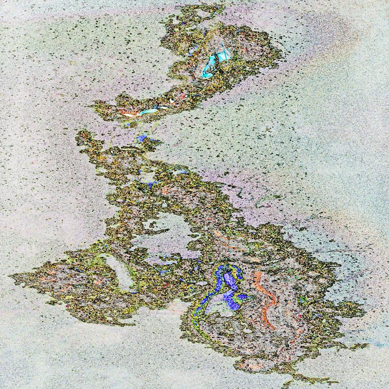 Algae on Hastings Pond~1384-5ges.