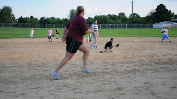 Moms vs sons baseball game