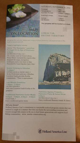 Gibraltar Nov 26