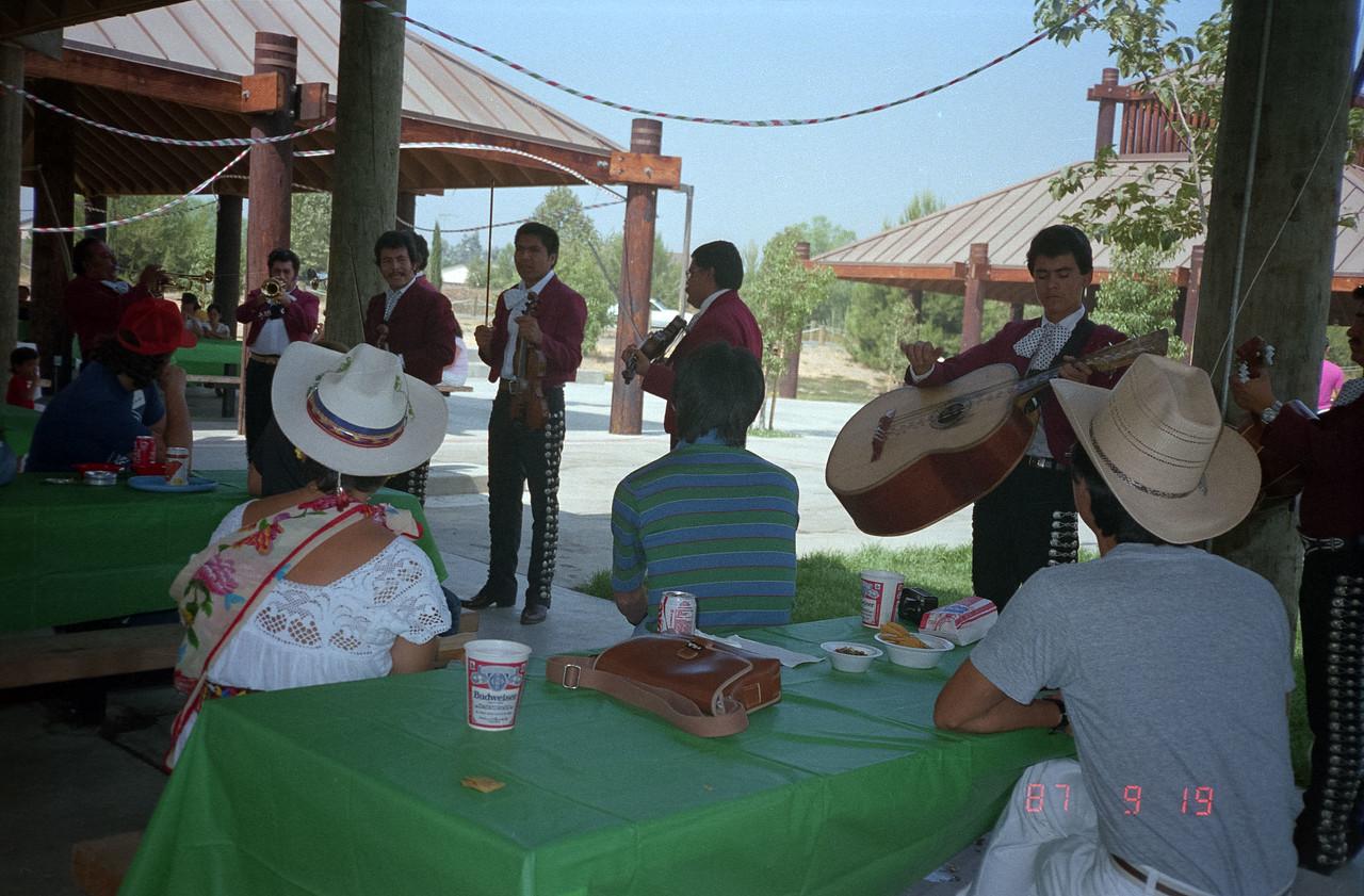 Enjoying Mariachi Music at the Intech picnic