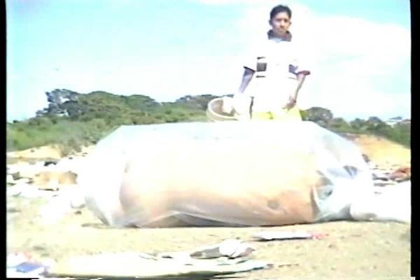 Regina Galindo en No perdemos nada con nacer. (2000)