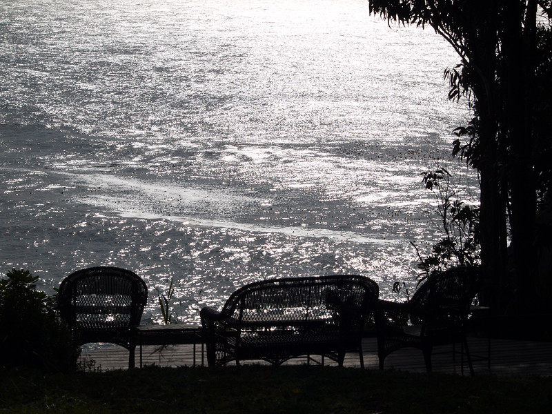 A nice place to relax and take in the view at Whale Watch Inn, Gualala, CA