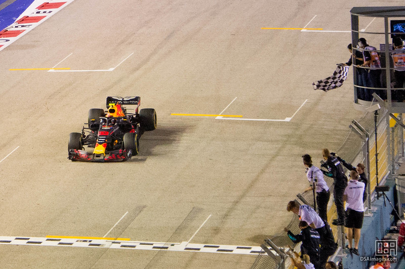 Max Verstappen taking second place(Aston Martin Red Bull Racing)