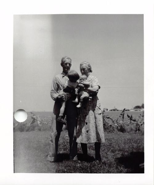 Grandpa, Grandma Trogdon, David, Jeff. 1956