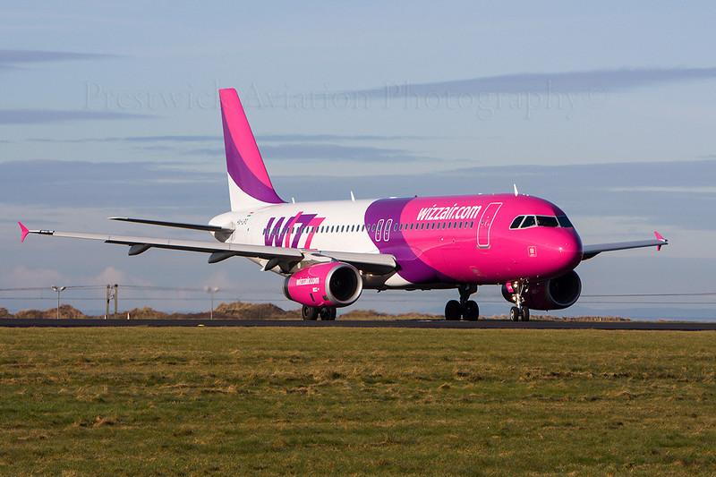 HA-LPO. Airbus A320-232. Wizz Air. Prestwick. 190308.