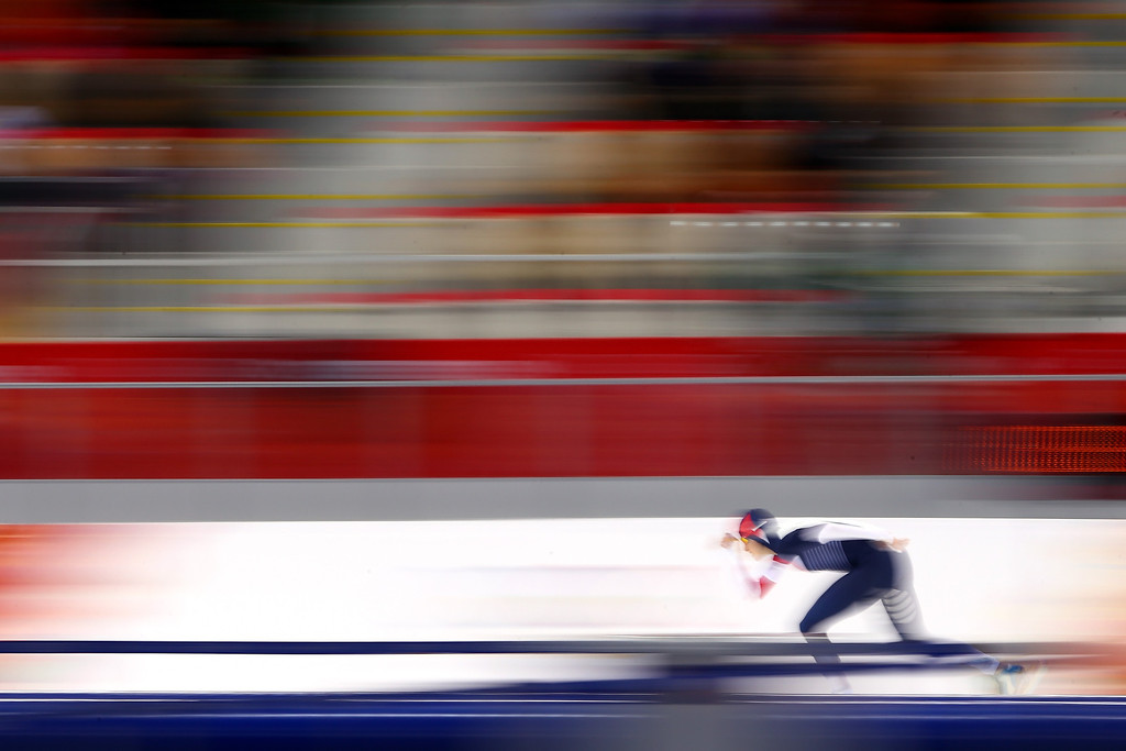 . Martina Sablikova of the Czech Republic competes during the Women\'s 3000m Speed Skating event during day 2 of the Sochi 2014 Winter Olympics at Adler Arena Skating Center on February 9, 2014 in Sochi, Russia.  (Photo by Streeter Lecka/Getty Images)