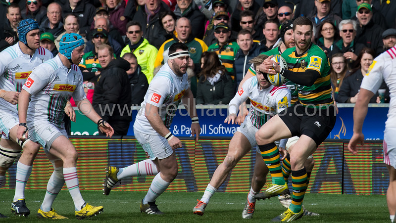 Northampton Saints vs Harlequins, Aviva Premiership, Franklin's Gardens, 27 March 2016