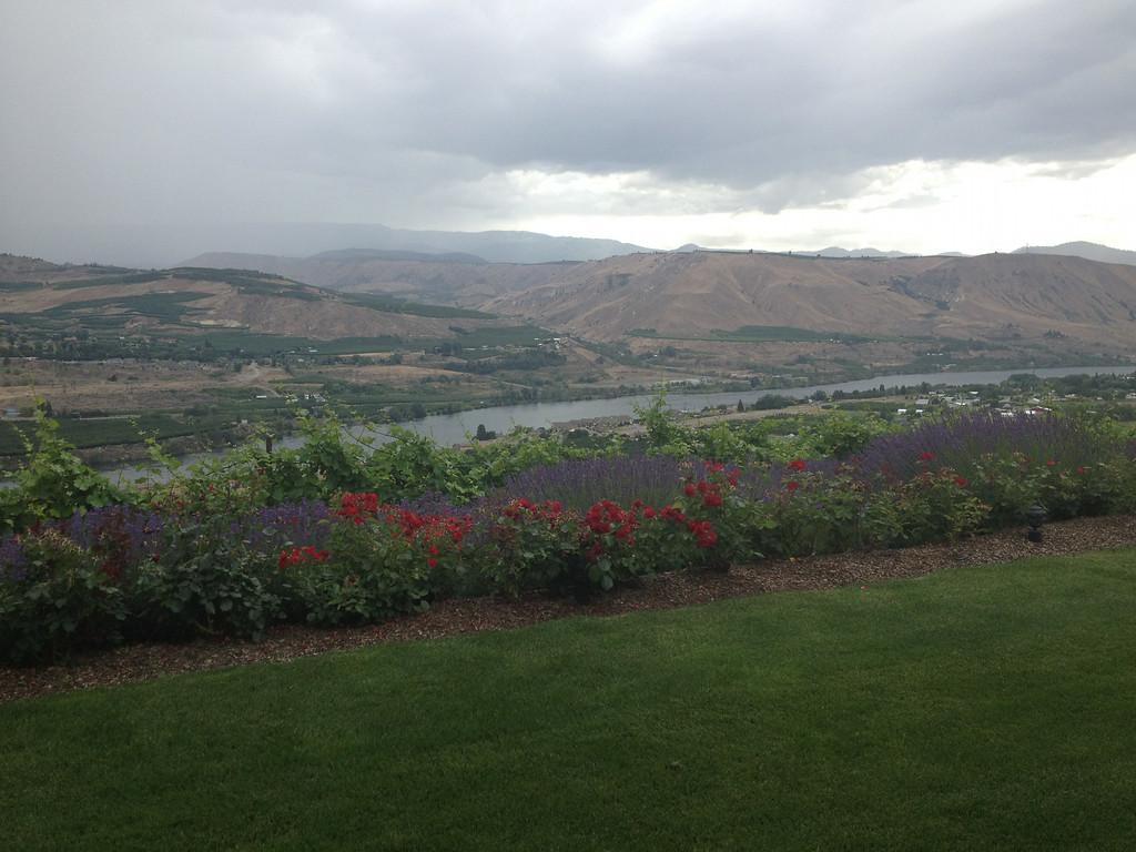 . At Martin Scott Winery in East Wenatchee, Washington, overlooking Wenatchee.  (Photo by Francie Swidler/The Denver Post)