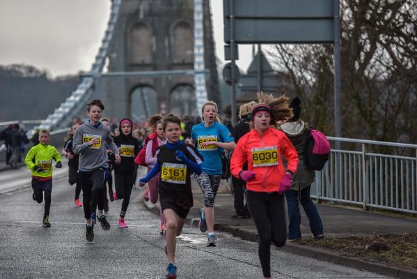 Anglesey  Half Marathon - Childrens Race at the Bridge