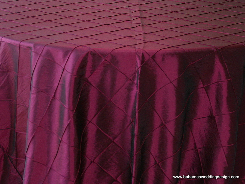 "4"" Pintuck Taffeta - Merlot