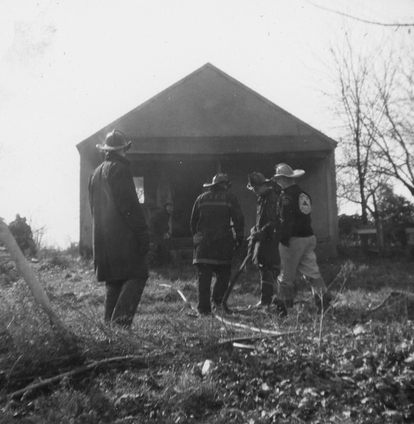 Drill - house burning Viers houses - Westmore 1960
