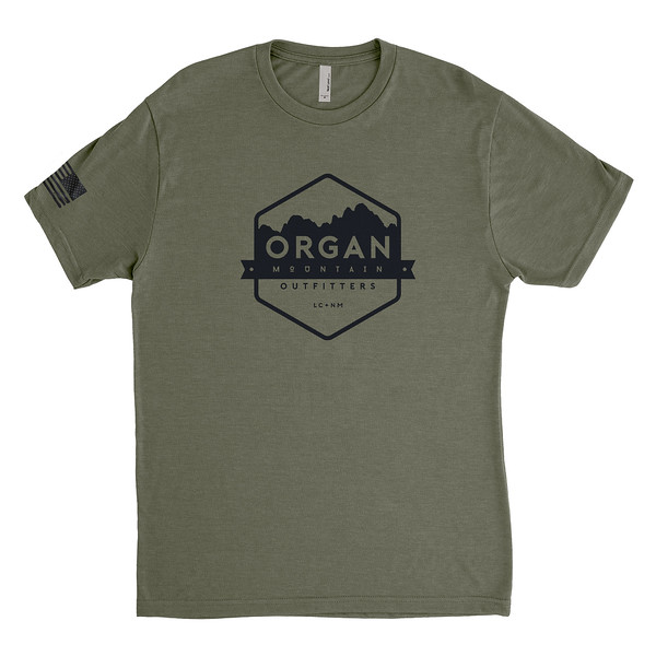 Outdoor Apparel - Organ Mountain Outfitters - Mens T-Shirt - USA Freedom Tee - Military Green.jpg