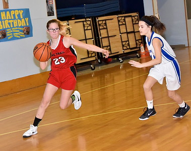 LTS M.S. Girls Basketball vs DES photos by Gary Baker