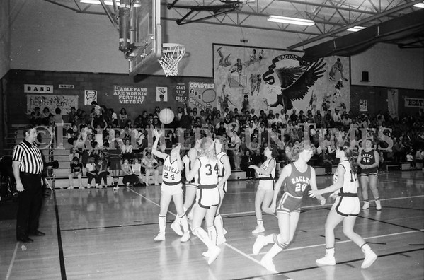 1985 11 14 Dist 6 Girls BBall Tourney Eagles vs Chester, Choteau, Simms