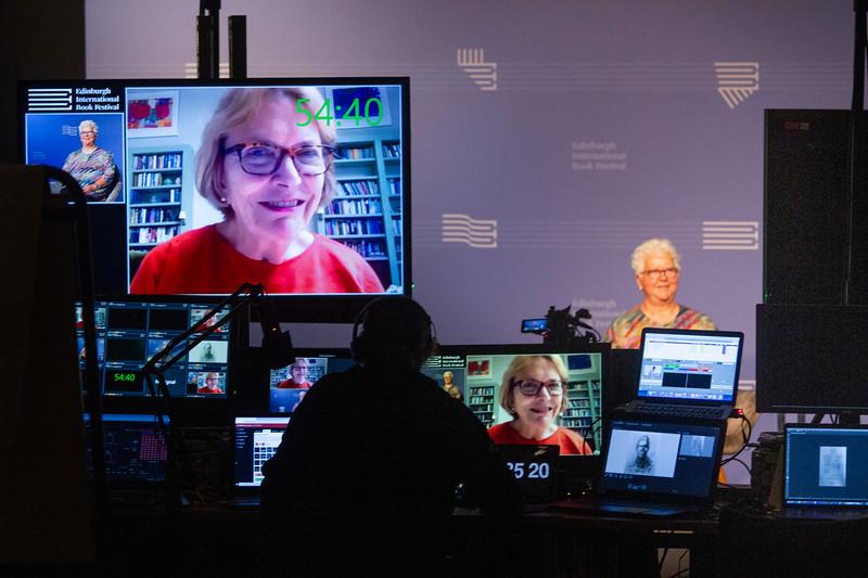 Dame Joan Bakewell interviews Val McDermid at the 2020 Edinburgh International Book Festival Online
