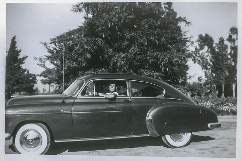 Angelo with his 1949 Chevrolet.