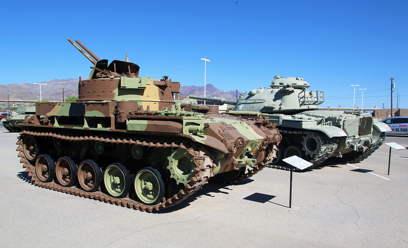 M-42 Tank and a Patton Tank