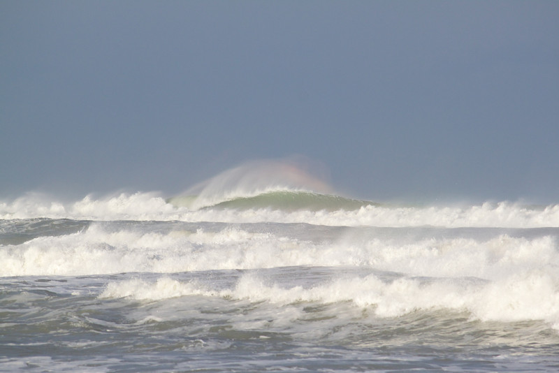 wave rainbow after Hurricane Sandy