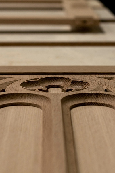 Red Oak panels for a new installation.
