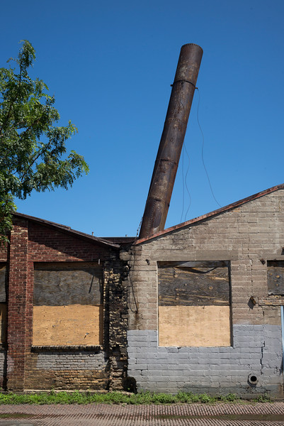 Abandoned industrial building in Minneapolis, Hennepin County, Minnesota, USA