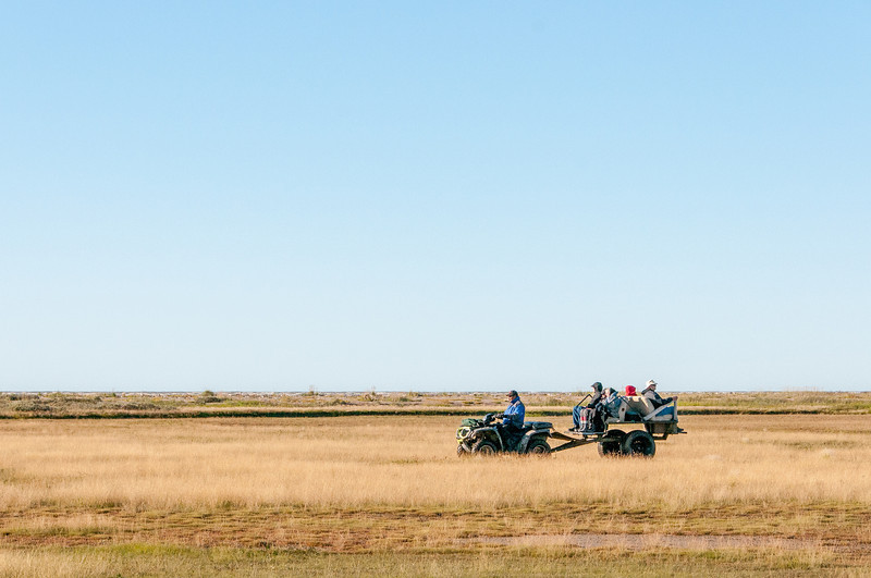 Tourists on quad bikes at Manitoba, Canada