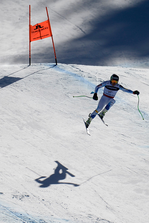 . BEAVER CREEK, CO - FEBRUARY 08: USA skier Ted Ligety competes during the men\'s alpine combined final. FIS Alpine World Ski Championships 2015 on Sunday, February 8, 2015. (Photo by AAron Ontiveroz/The Denver Post)
