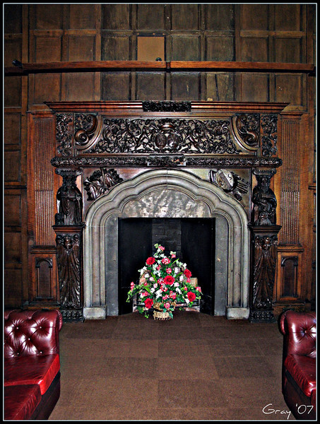 Reading Room, Wroxton Abbey  One of a seemingly endless number of fireplaces in a seemingly endless number of beautiful rooms