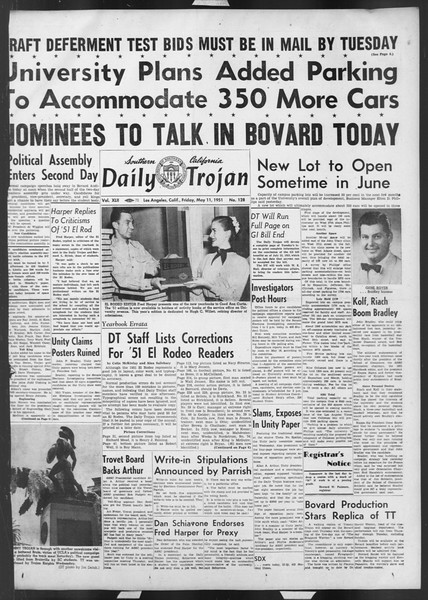 Daily Trojan, Vol. 42, No. 128, May 11, 1951