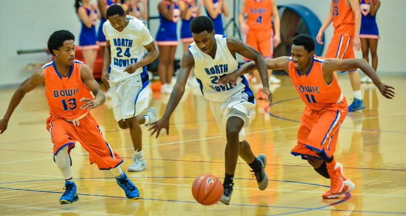 Basketball Varsity Boys vs  Bowie 01-28-14-9