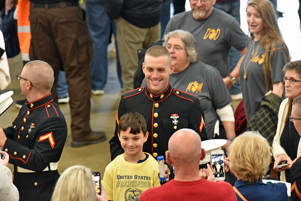 Matt Kicklighter inducted into the Marines 01-24-20
