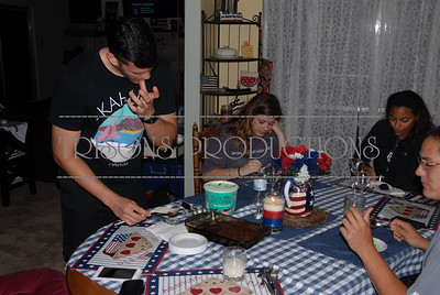 Brad's 26th BD dinner with family 06-04-16