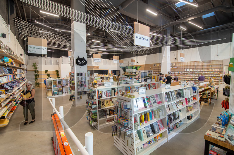 A new bookstore in the former Guild Theater space in downtown Portland was designed by LRS Architects for Japanese chain Kinokuniya. (Sam Tenney/DJC)