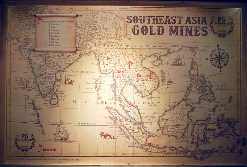 Southeast Asia gold mines