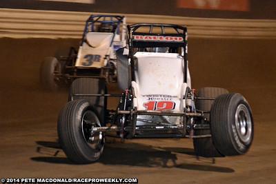 USAC National Sprint Car Tour New Egypt Speedway 6/5/14 - Pete MacDonald