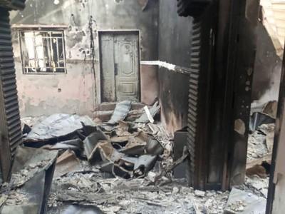 Attack on aid facilities in Damasak, northeast Nigeria